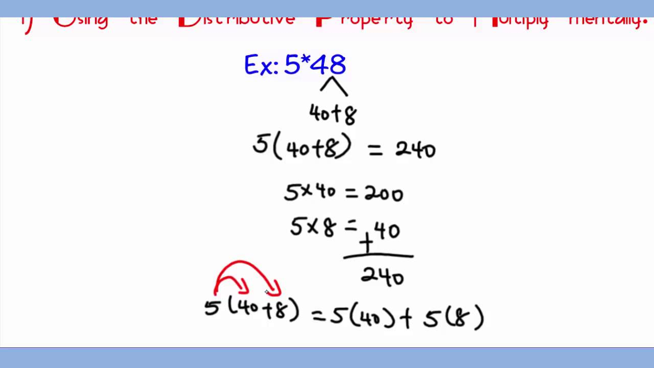 math worksheet : distributive property multiplication fourth grade  1000 ideas  : Properties Of Multiplication And Addition Worksheets
