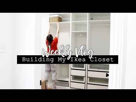 Building my Ikea PAX Wardrobe! || Weekly Vlog #17