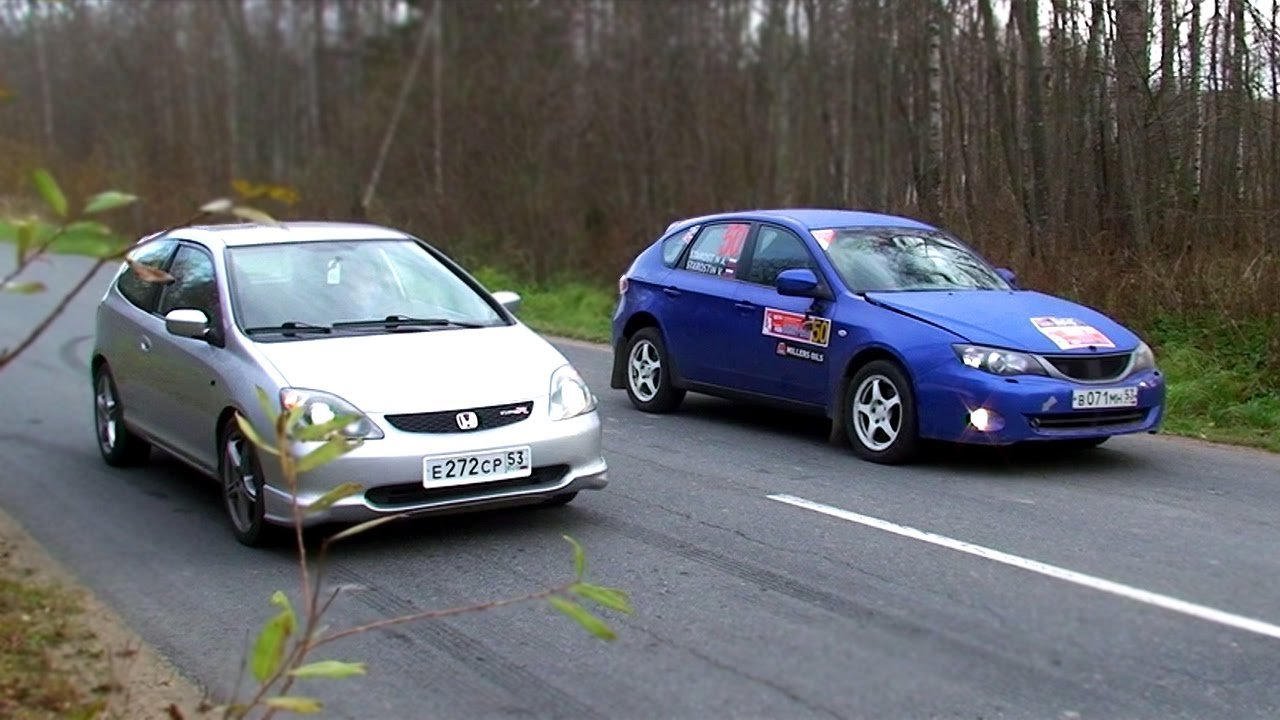 Honda Civic Type R vs Subaru Impreza