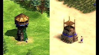 Age Of Empires 2 Vs Age Of Empires: Definitive Edition Building Comparison