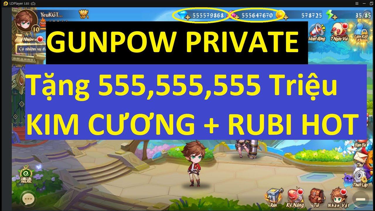 Game Lậu Mobile 2020 GUNPOW MOBILE LẬU VIỆT HÓA TẶNG 555M KC 555M RUBI ĐẦU GAME GAME LẬU | KGTTH