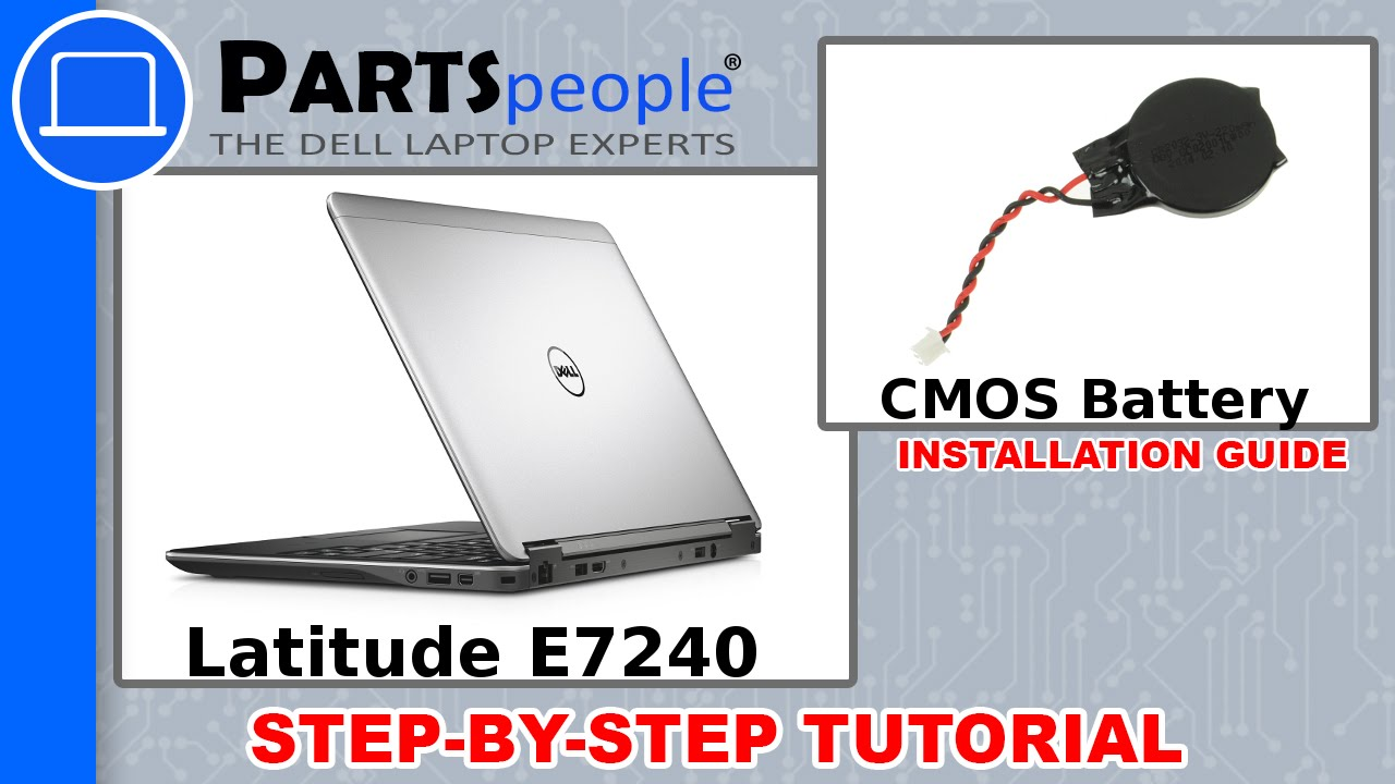 Dell Latitude E7240 CMOS Battery How-To Video Tutorial