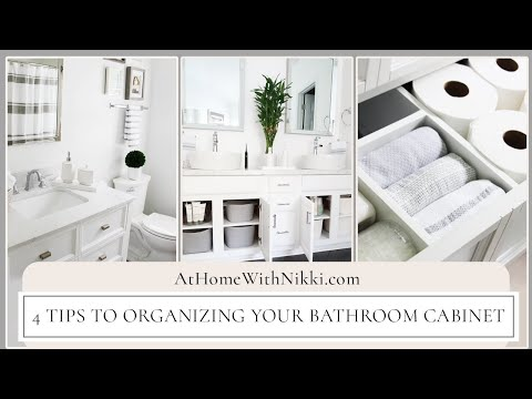 4 Ways To Organize Under The Bathroom Sink Cabinet | Home Organizing Tips