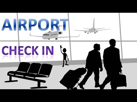 At the airport - Check in conversation | English lesson