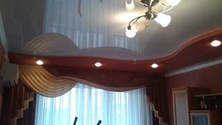 Глянцевые матовые сатиновые натяжные потолки(, 2016-08-08T17:01:06.000Z)
