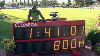 Rieti 2010 M-800m David Rudisha New World Record 1:41.01!
