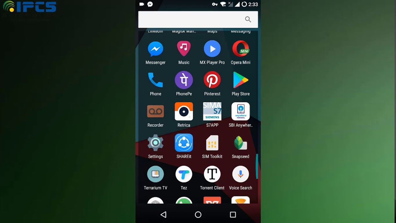 application android pour s7