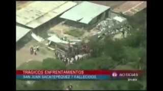 20 sept sábado T Trece  DISTURBIOS Y FALLECIDOS EN SAN JUAN SACATEPEQUEZ