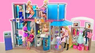 Barbie Mega Fashion Show Mall Unboxing & Setup! Centro comercial Barbie Pusat perbelanjaan