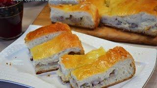 Пирог сдобный с мясом и картофелем