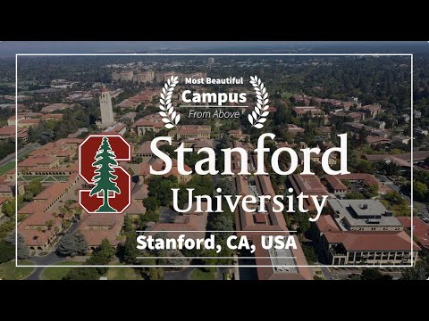 [USA] Stanford University, The Most Beautiful Campus In California l 4K Drone