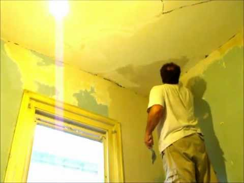 Plastering How to Repair Cracking  P2 ~ Hawthorn Plaster Repairs