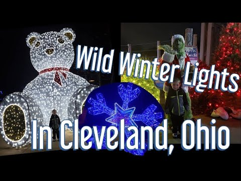 Wild Winter Lights in Cleveland Ohio, Christmas Lights at the Cleveland Zoo
