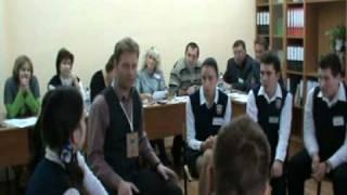 Молев А И  Беседа с учениками Конкурс   Учитель года 2011