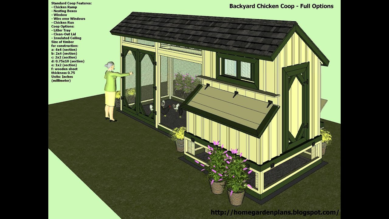 M200 - Backyard Chicken Coop Plans - How To Build a ...