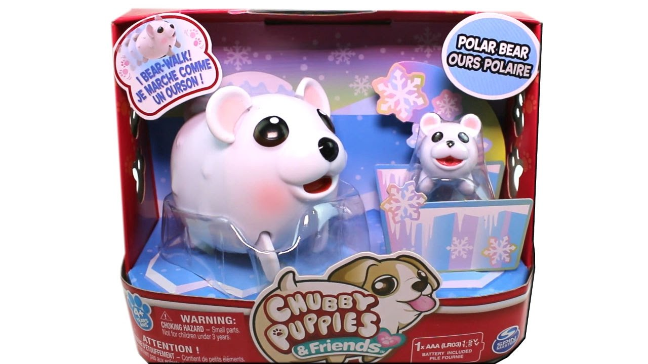 Chubby Puppies And Friends Polar Bear Unboxing Toy Review Youtube