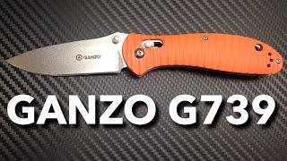 Ganzo G739 Grooved Orange G10