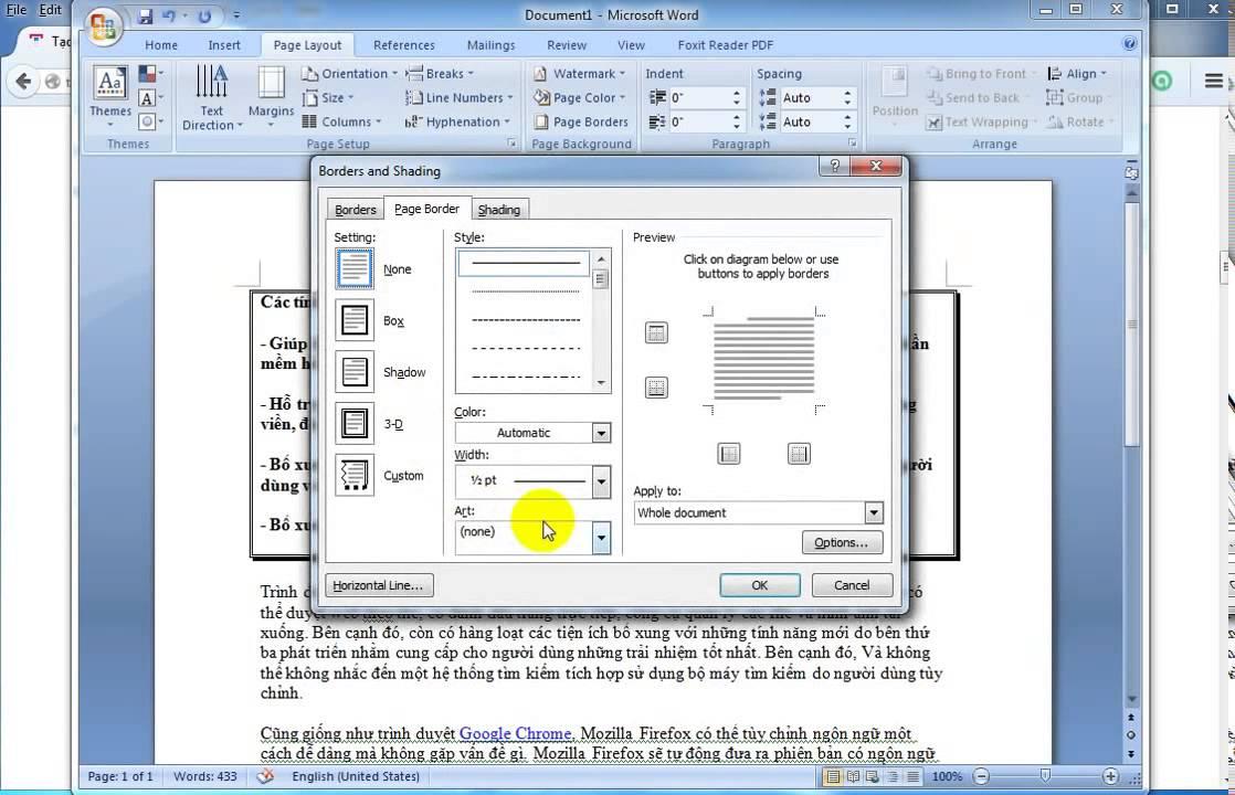 Tạo khung, viền, boder trong văn bản Word 2003, 2007, 2010,2013