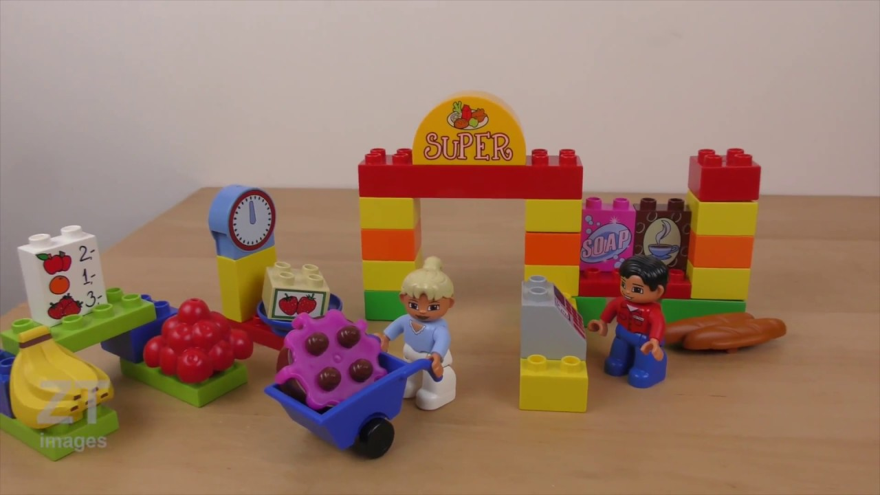 My First Lego Duplo Supermarket 6137 Review Build Instruction Youtube