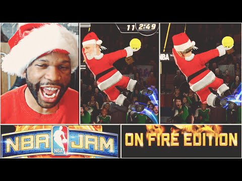 Santa Claus Does The Dab On Steph Curry!!!  NBA Jam on Fire Edition! #2 - Look At My Dab