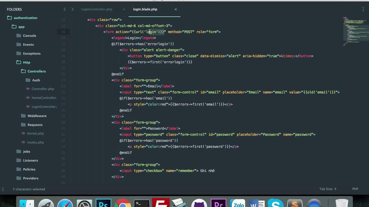 Hướng dẫn tạo trang đăng nhập sử dụng Laravel với Ajax | Giáp Hiệp