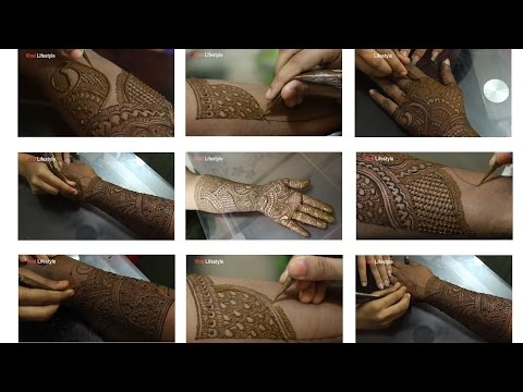 Full Hand Mehndi Design Tutorial | Front And Back | Step By Step | Latest Indian mehndi Style