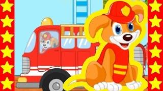 Щенячий патруль спасает город от пожара. Щенки спасатели и пожарные машины. Мультики для детей.