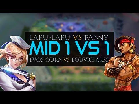1 VS 1 FANNY VS LAPU LAPU NO 1 DI DUNIA ..MOBILE LEGENDS BANG BANG