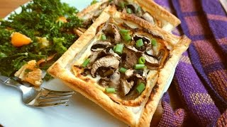 Blue Cheese & Mushroom ParcelsTarts (Vegetarian)