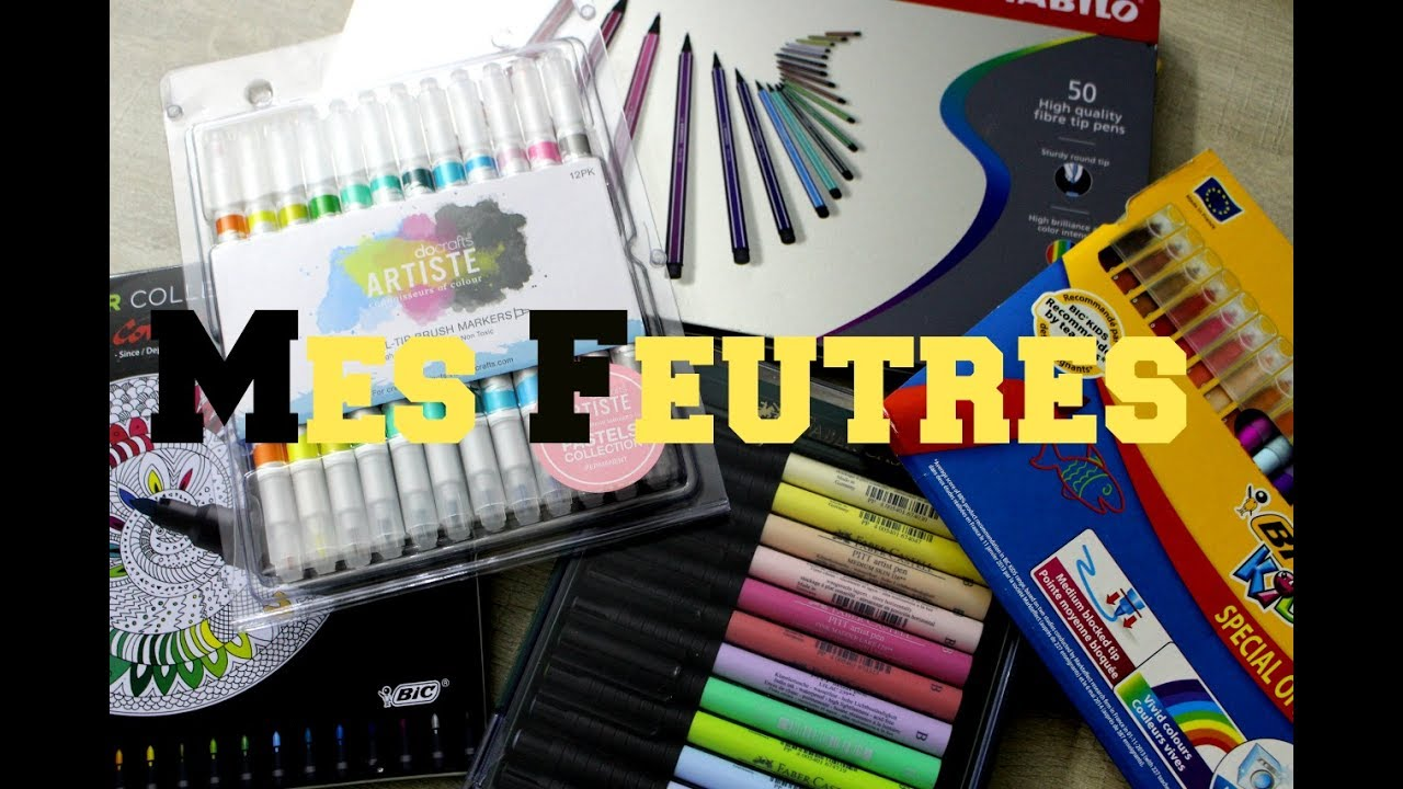 Coloriage Adulte Feutre.Mes Feutres Pour Le Coloriage Pour Adultes Art Therapie Youtube