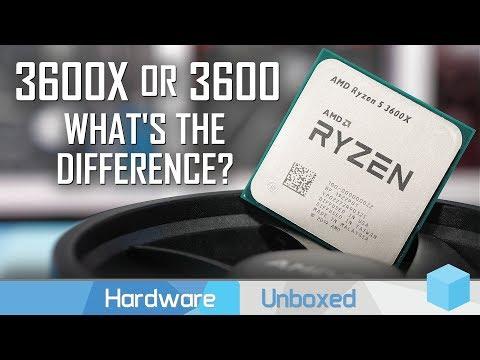AMD Ryzen 5 3600 vs. 3600X, Is The 'X' Worth It?