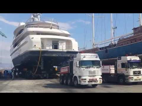 1200t megayacht transport
