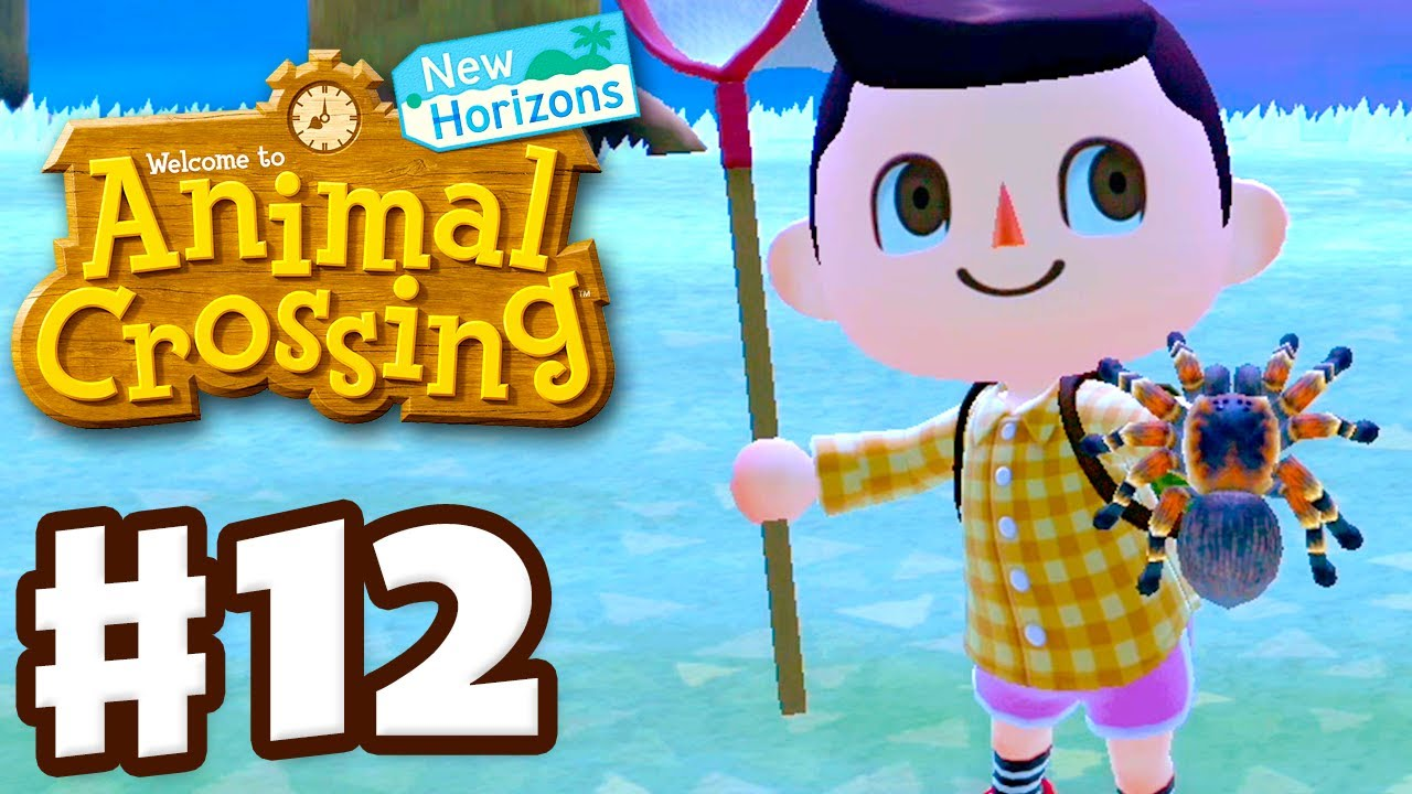 Catching a Tarantula! - Animal Crossing: New Horizons - Gameplay Walkthrough Part 12
