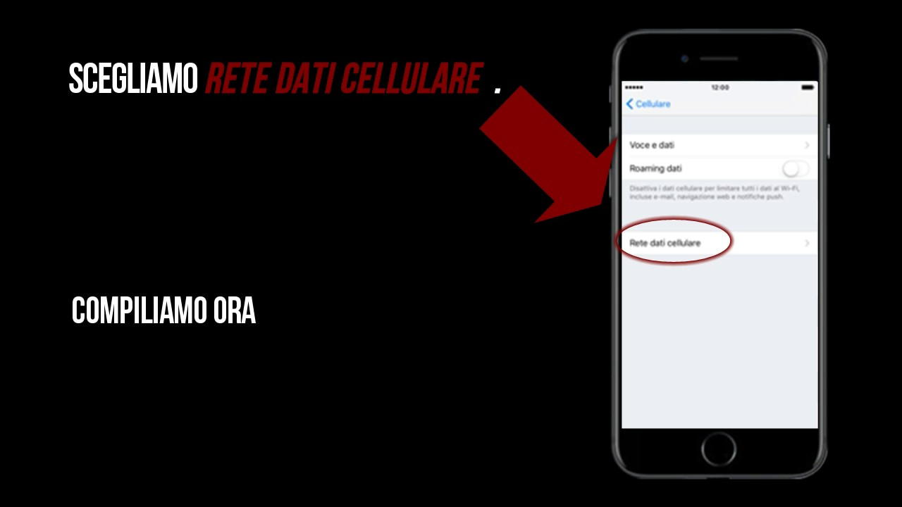 configurazione dati cellulare tre iphone 6s