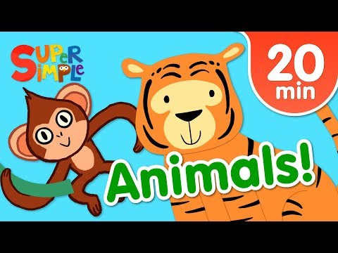 Our Favorite Animals Songs For Kids | Super Simple Songs