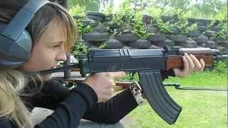 Czech girl shooting vz.58 (CZ858)