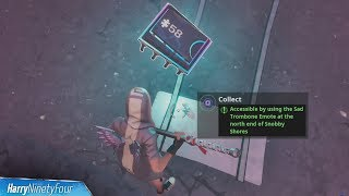 Fortbyte #58: Accessible by Using the Sad Trombone Emote at the North End of Snobby Shores