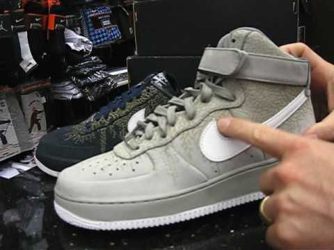 lowest price c5d45 f2175 Nike Air Force 1 Supreme - High   Low - Elephant Print at Street Gear, NY -  YouTube