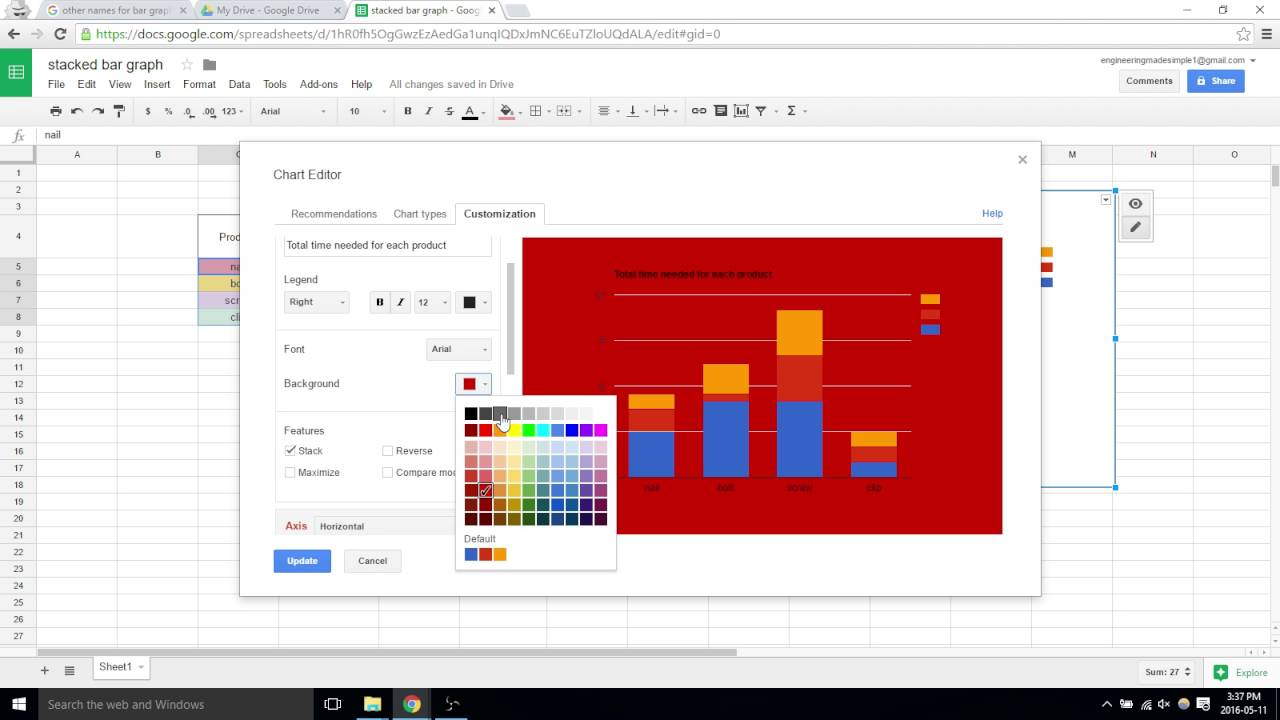 how to create graphs in google sheets