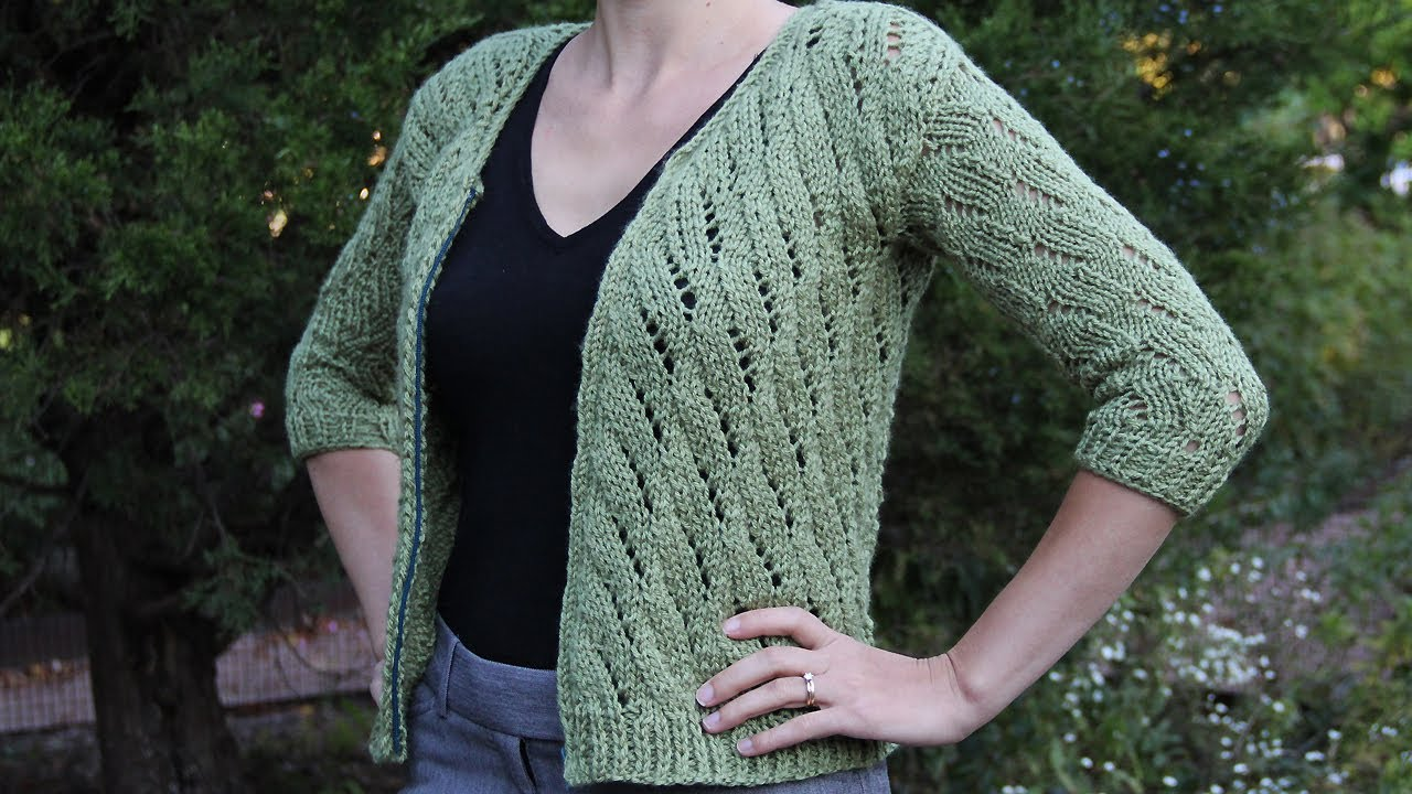 How To Knit A Cardigan Sweater Knitting Tutorial With Detailed