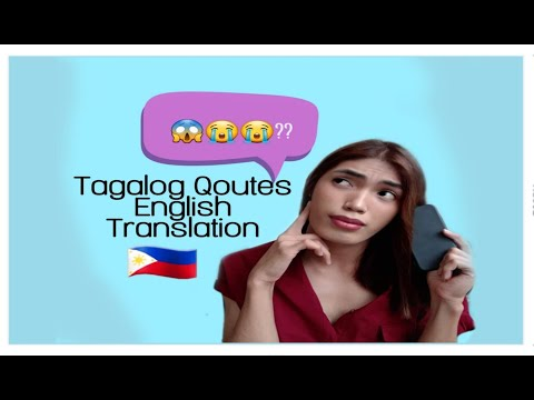 TAGALOG QUOTES ENGLISH TRANSLATION|