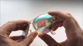Ray Ban Aviator обзор копии очков от солнца.
