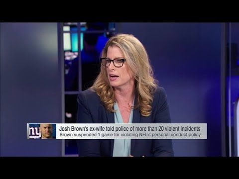 WHITE ESPN REPORTER GIVING NEW YORK GIANTS DOMESTIC ABUSER JOSH BROWN WHAT RAY RICE WASNT!
