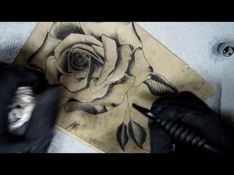 How To Tattoo - Rose Shading Techniques