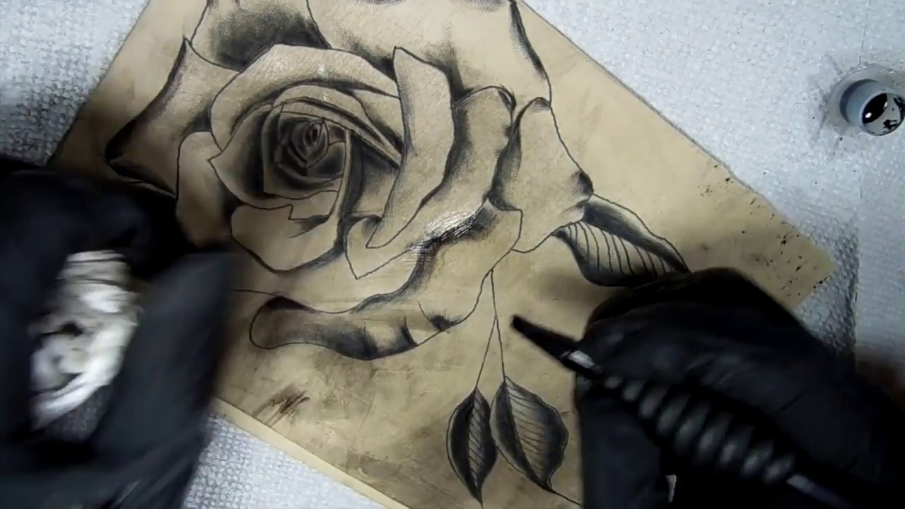 f074c41dc How To Tattoo - Rose Shading Techniques - YouTube