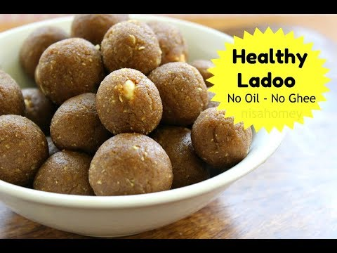 Healthy Laddu Recipe - No Oil / No Ghee - Tasty Rice Laddoo For Kids - Healthy Indian Snacks Recipes