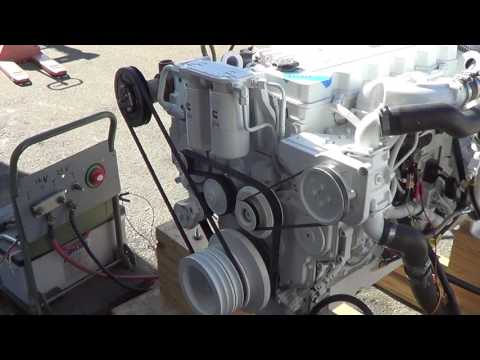 Cummins Marine QSB 5.9 480 with ZF 280A Engine Test for DINA