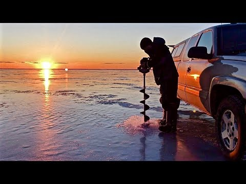 Day Two: Ice Fishing and Sleeping on Lake Winnebago (Cop woke me up!)