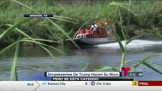 Miguel Amante - Partidarios de Trump construyen sección del muro fronterizo y se les cae a pedazos