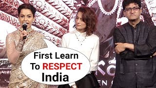 MANIKARNIKA Kangana Ranaut Gets ANGRY On Female Reporter For INSULTING Indian National Anthem